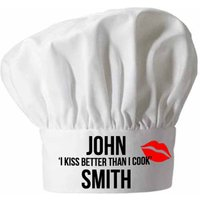 Personalised I Kiss Better Than I Cook Chef Hat - Chef Gifts