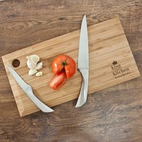 Personalised King of the Kitchen Chopping Board - Chopping Board Gifts