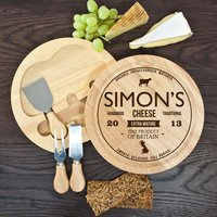 Personalised Traditional Brand Cheese Board Set - Cheese Board Gifts