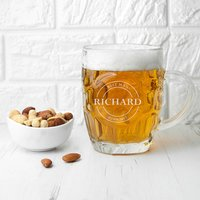 Personalised Emblem Dimpled Beer Glass - Beer Glass Gifts