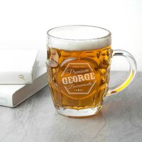 Personalised Premium Dimpled Beer Glass - Beer Glass Gifts