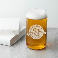 Personalised Premium Quality Beer Can Glass - Beer Gifts