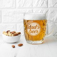 Personalised Statement Dimpled Beer Glass - Beer Glass Gifts