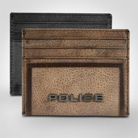 Police Metal Leather Credit Card Case - Police Gifts