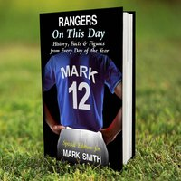 Personalised Rangers on this Day Book - Rangers Gifts