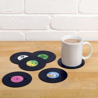 Retro Vinyl Record Coasters - Christmas Gifts