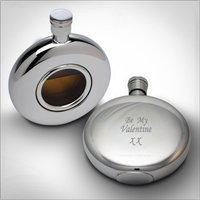 Personalised Round Window Flask - Flask Gifts
