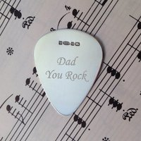 Personalised Sterling Silver Plectrum - Guitar Gifts