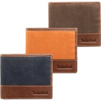 Large Bifold Mens Leather and Canvas Wallet - Menkind Gifts