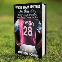 Personalised West Ham On This Day Book - West Ham Gifts