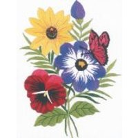 Janlynn Embroidery Kit Floral Embroidery