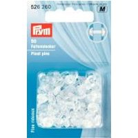 'Prym Plastic Pleating Pin Studs For Curtains  Clear