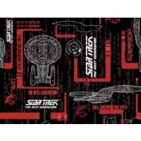 Camelot Fabrics Star Trek The Next Generation Quilting Fabric Enterprise  Red