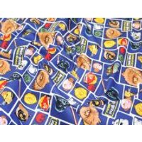 Camelot Fabrics Angry Birds Star Wars Character Blocks Quilting Fabric  Blue