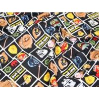 Camelot Fabrics Angry Birds Star Wars Character Blocks Quilting Fabric  Navy