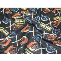 Camelot Fabrics Angry Birds Star Wars Duel Quilting Fabric  Black