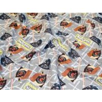 Camelot Fabrics Angry Birds Star Wars Duel Quilting Fabric  Grey