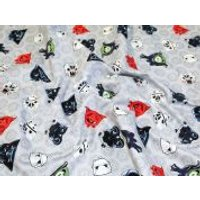 Camelot Fabrics Angry Birds Star Wars Heads of Empire Quilting Fabric  Grey