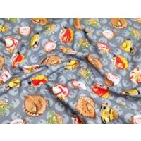 Camelot Fabrics Angry Birds Star Wars Rebel Leaders Quilting Fabric  Grey