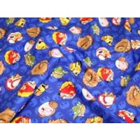 Camelot Fabrics Angry Birds Star Wars Rebel Leaders Quilting Fabric  Blue