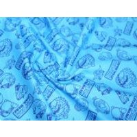 Camelot Fabrics Angry Birds Star Wars Outlines Quilting Fabric  Blue
