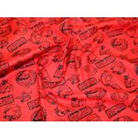 Camelot Fabrics Angry Birds Star Wars Outlines Quilting Fabric  Red