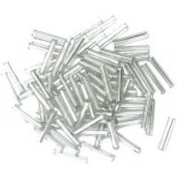 'Craft Factory Glass Bugle Beads  Silver