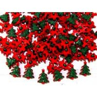 'Christmas Tree Buttons  Red & Green