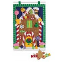 Dimensions Feltworks Stitching Kit Advent Calendar, Gingerbread House