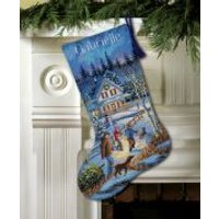 Dimensions Cross Stitch Kit Stocking, Christmas Eve Fun