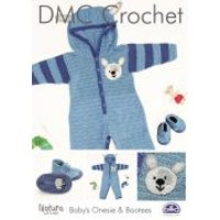 'Dmc Baby Onesie With Matching Bootees Crochet Pattern  4 Ply