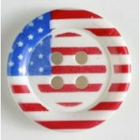 'Dill American Flag Buttons  Blue/white/red