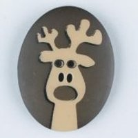 'Dill Reindeer Christmas Buttons  Brown