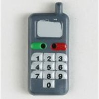 'Dill Mobile Phone Buttons  Grey