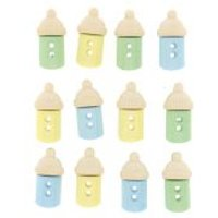 'Dress It Up Shaped Novelty Buttons Baby Bottles Boy