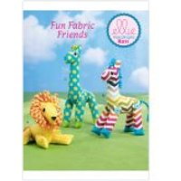 Kwik Sew Craft Easy Sewing Pattern 211 Lion, Zebra & Giraffe Stuffed Toys