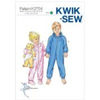 'Kwik Sew Childrens Easy Sewing Pattern 2704 Sleepers, Jumpsuits, Onesies