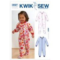'Kwik Sew Toddlers Sewing Pattern 3527 Sleepers Pyjamas Onesies
