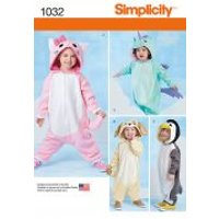 'Simplicity Baby & Toddler Sewing Pattern 1032 Novelty Onesies