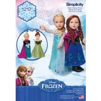 Simplicity Doll Clothes Sewing Pattern 1217 Disney Frozen Elsa Ice Princess Costumes