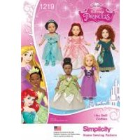 Simplicity Doll Clothes Sewing Pattern 1219 Disney Princess Costumes