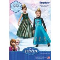 Simplicity Girls Sewing Pattern 1222 Disney Frozen Elsa Ice Princess Costumes