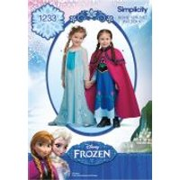 Simplicity Girls Sewing Pattern 1233 Disney Frozen Elsa Ice Princess Costumes