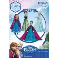 Simplicity Doll Clothes Sewing Pattern 1234 Disney Frozen Elsa Ice Princess Costumes