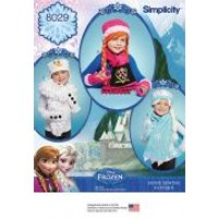 Simplicity Childrens Sewing Pattern 8029 Disney Frozen Hats & Scarves