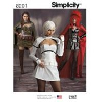 Simplicity Ladies Sewing Pattern 8201 Star Wars Themed Costumes