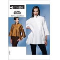 Vogue Ladies Easy Sewing Pattern 1274 Loose Fit Asymmetric Tops
