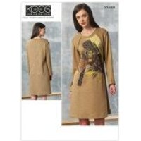 Vogue Ladies Easy Sewing Pattern 1459 Jersey Knit Loose Fit Dress