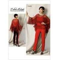 Vogue Ladies Sewing Pattern 1491 Handkerchief Hem Tunic Top & Pants