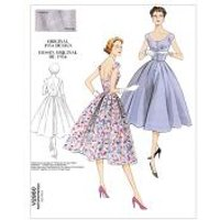 Vogue Ladies Easy Sewing Pattern 2960 Vintage Style Button Up Dress